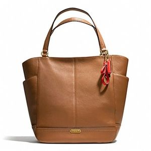 Coach Large Tan Leather Tote